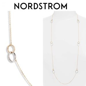 NORDSTROM Infinity Long Link Station Necklace